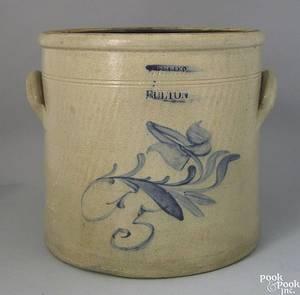 Fivegallon stoneware crock 19th c