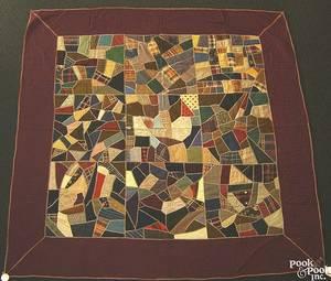 Berks County Pennsylvania crazy quilt dated 1897