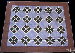 New York pieced quilt late 19th c
