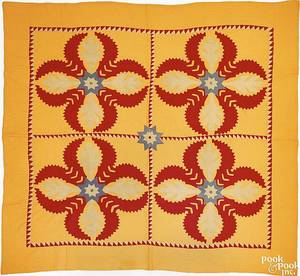 Lancaster County Pennsylvania Mennonite applique quilt