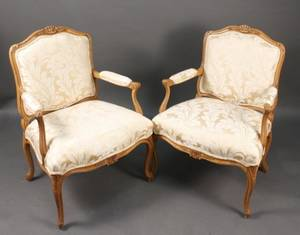 Pair of French Provincial Style Fauteuils