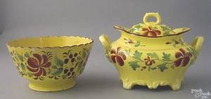 Canary waste bowl 19th c