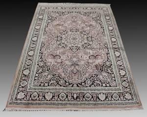 Kashmir Hand Knotted Art Silk Rug 41 x 63