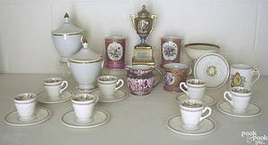 Misc group of porcelain to include Wedgwood cups and saucers