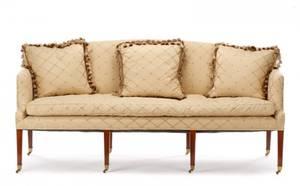 George III Style Mahogany Upholstered Settee