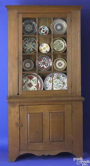 Pennsylvania walnut and poplar onepiece stepback cupboard ca 1810