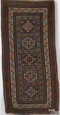 Kazak throw rug ca 1900