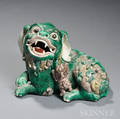 Sancaistyle Ceramic Foo Lion with a Cub