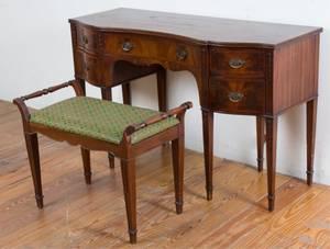 John Wanamaker Mahogany Desk  Bench