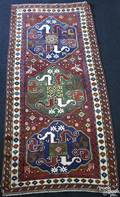 Cloudband Kazak hall rug ca 1915