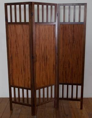 Three Panel Wood Screen Room Divider