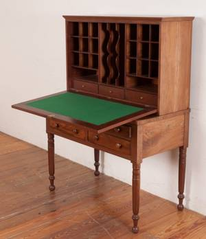 19th Century Mahogany Plantation Writing Desk
