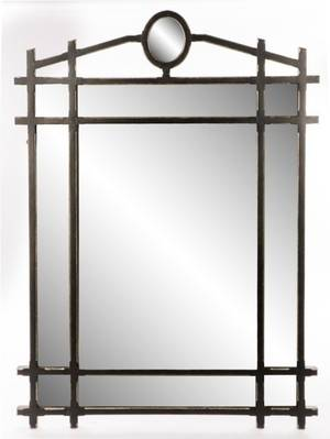 Large MintonSpindell Black Sectioned Mirror