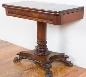19th C Federal Empire Game Table