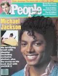 MICHAEL JACKSON SIGNED PEOPLE WEEKLY MAGAZINE