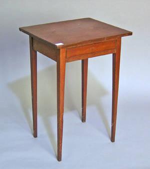Federal walnut one drawer stand