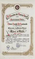 PEL 1989 CARACAS SCROLL OF MERIT
