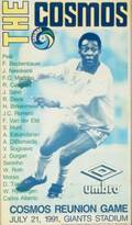 PEL JULY 21 1991 NEW YORK COSMOS REUNION GAME POSTER AND TSHIRT