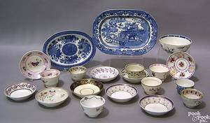 Misc tableware to include pearlware cups and saucers