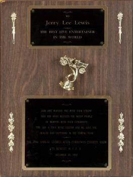 JERRY LEE LEWIS PLAQUES o