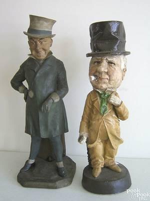 Earthenware figure of a gentleman early 20th c