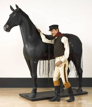 Life size composition figure of a horse early 20th c