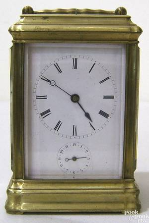 French carriage clock ca 1880