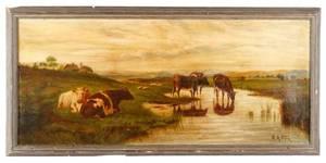Robert Atkinson Fox Pastoral Oil Signed