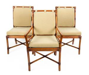 A Set of Twelve Rattan Dining Chairs