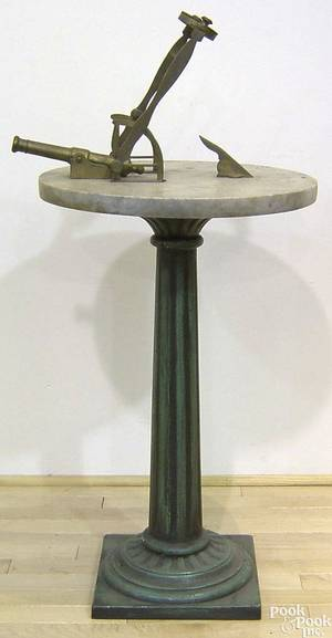 White marble sundial late 19th c