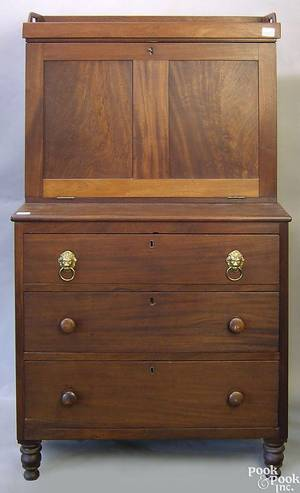Pennsylvania Empire mahogany secretary desk