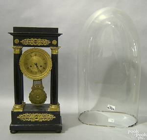French ormolu and ebonized mantle clock
